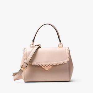MICHAEL KORS Ava Soft Pink Scalloped Leather bag